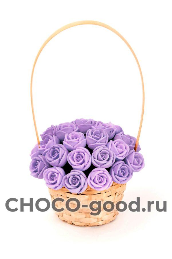 купить корзинку из 27 шоколадных роз