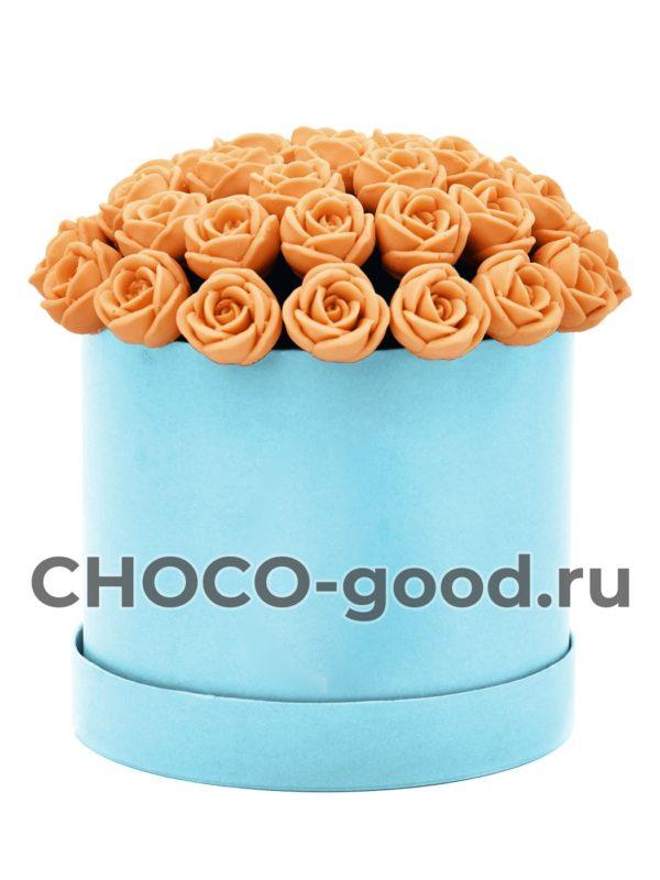 купить коробку из 37 шоколадных роз