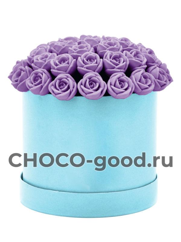 купить коробку шоколадных роз