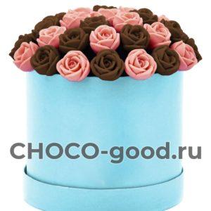 купить коробку из шоколадных роз