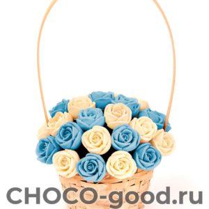 купить корзинку из двадцати шоколадных роз